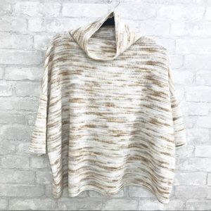 Silence + Noise   Oversized Striped Boxy Sweater